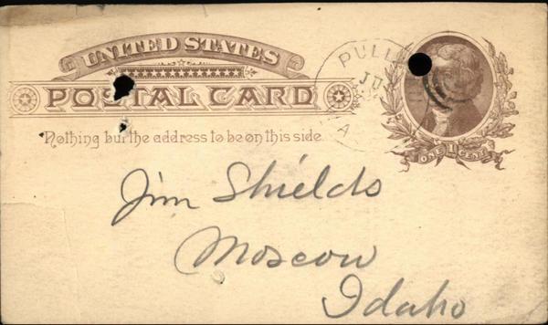 1890 Pullman Illinois (IL) Postcard  Tom Duff A.L. Price Jim Shields